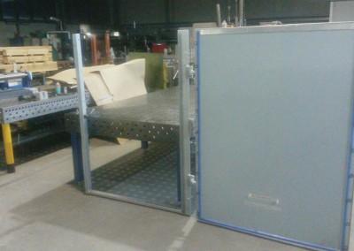 halbautomatische Hochwasserschutz Tür